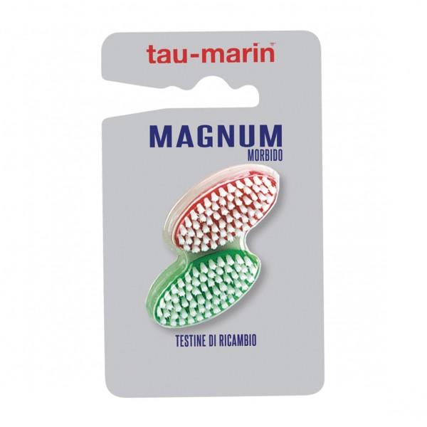 TAU-MARIN Taumarin Testine di Ricambio Spazzolino Magnum Morbido 2 pezzi