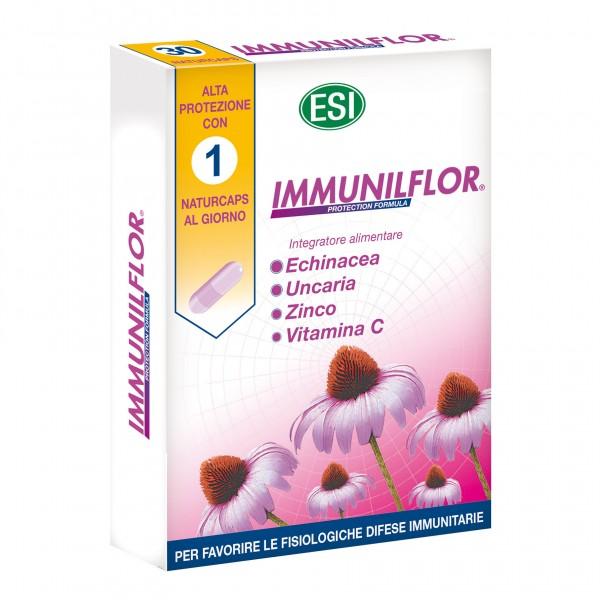 Immunilflor - Integratore alimentare per rafforzare le difese immunitarie - 30 capsule