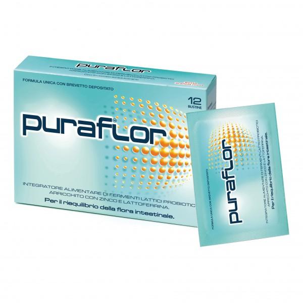 Puraflor - Integratore a base di fermenti lattici probiotici - 12 bustine