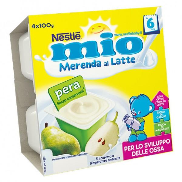 MIO Mer.Latte Pera 4x100g