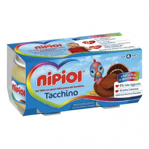 OMO NIPIOL Tacchino 2x 80g