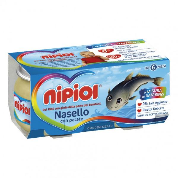 OMO NIPIOL Nasello+Pat.2x80g