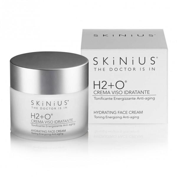 Skinius H2+O Crema Viso Idratante - Tonificante, energizzante, anti-aging - 50 ml