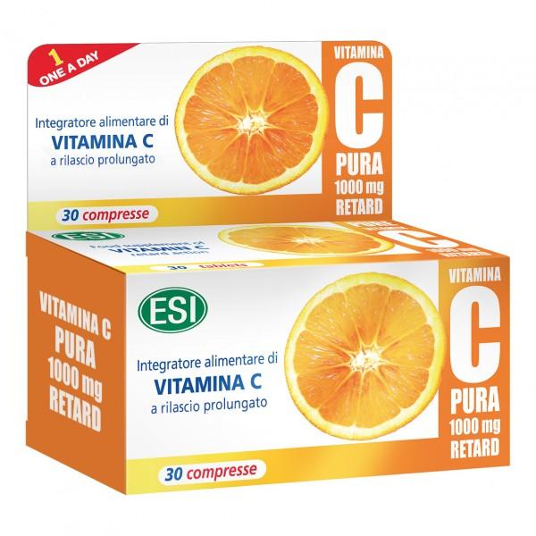 Vitamina C Pura Retard - Integratore alimentare per il sistema immunitario - 1000 mg - 30 compresse