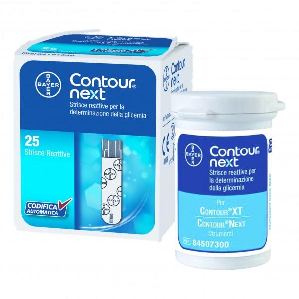 CONTOUR NEXT 25 Strisce per misurazione Glicemia
