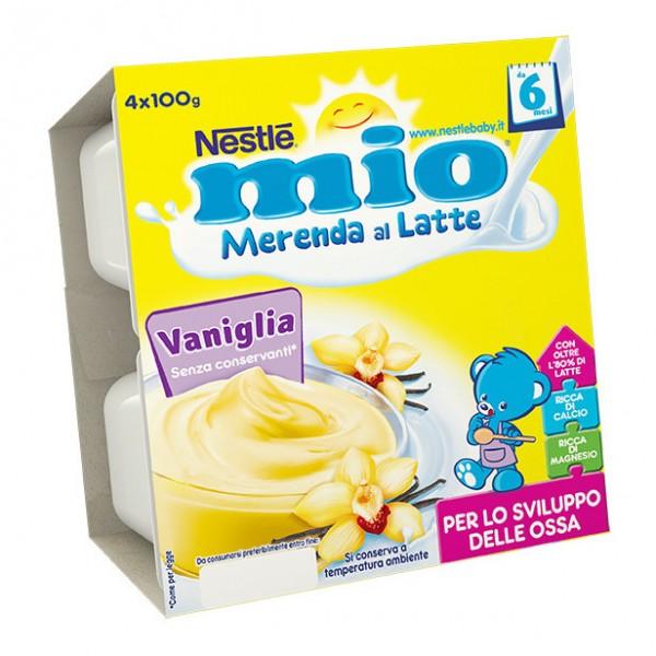 MIO Mer.Latte Vaniglia 4x100g