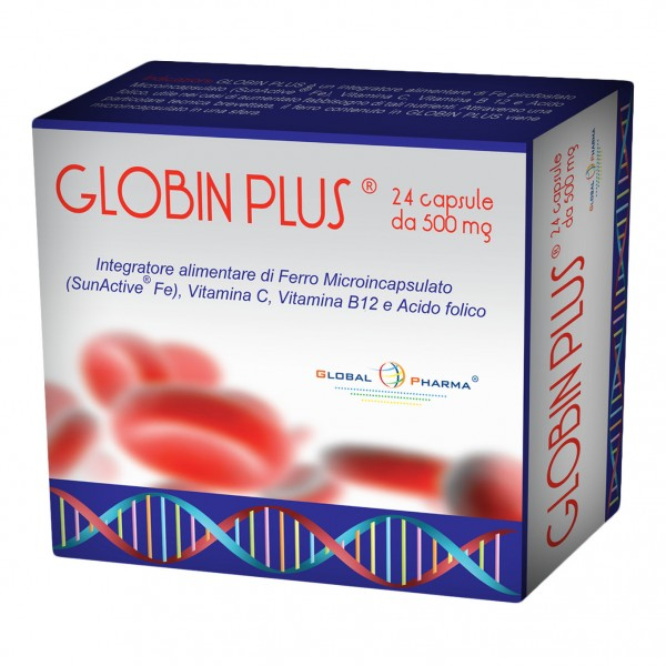 GLOBIN Plus 24 Cps 500mg