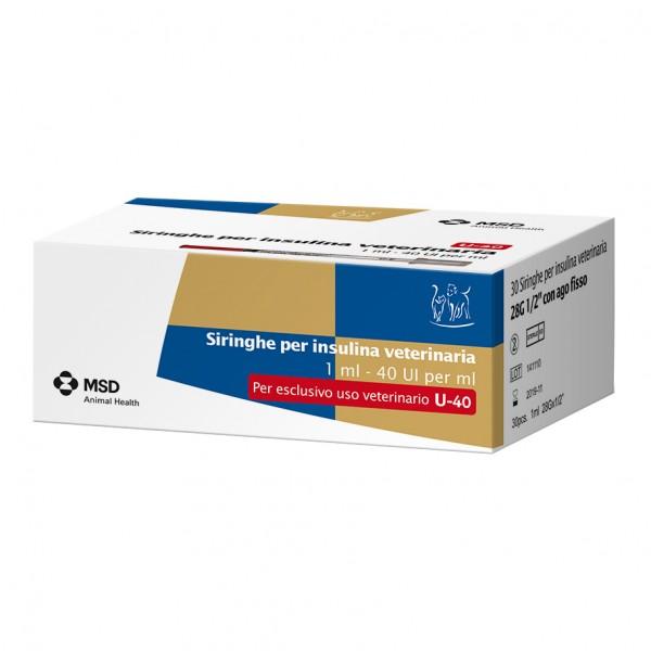 Siringhe per Insulina Veterinaria 40UI/ml 30 pezzi
