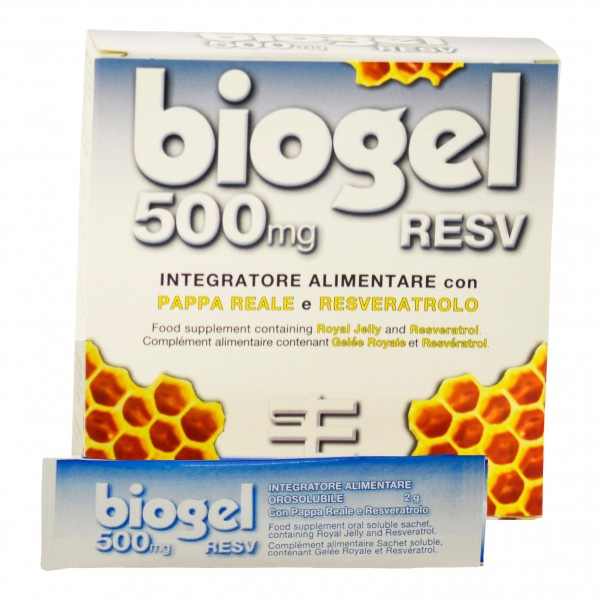BIOGEL*RESV 500mg 15 Bust.
