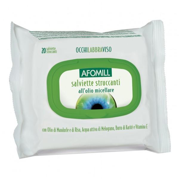 Afomill Salviette Struccanti Olio Micell...