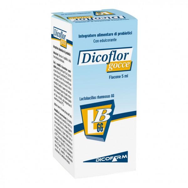 Dicoflor Gocce - Integratore per l'equilibrio della flora batterica intestinale - 5 ml