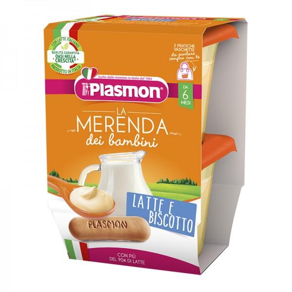 PLASMON Mer.Latte-Bisc.2x120g