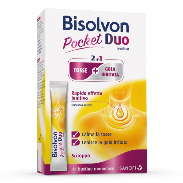 Bisolvon Pocket Duo Lenitivo 14 Bustine Monodose da 10 ml
