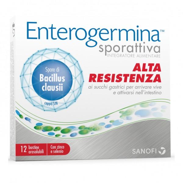 Enterogermina Sporattiva - Integratore probiotico per l'equilibrio della flora intestinale - 12 buste