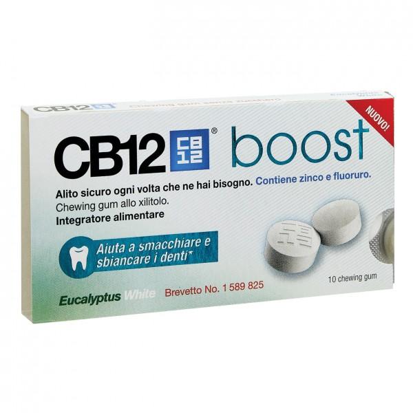 CB12 Boost Eucalipto White 10 Chewing-gu...