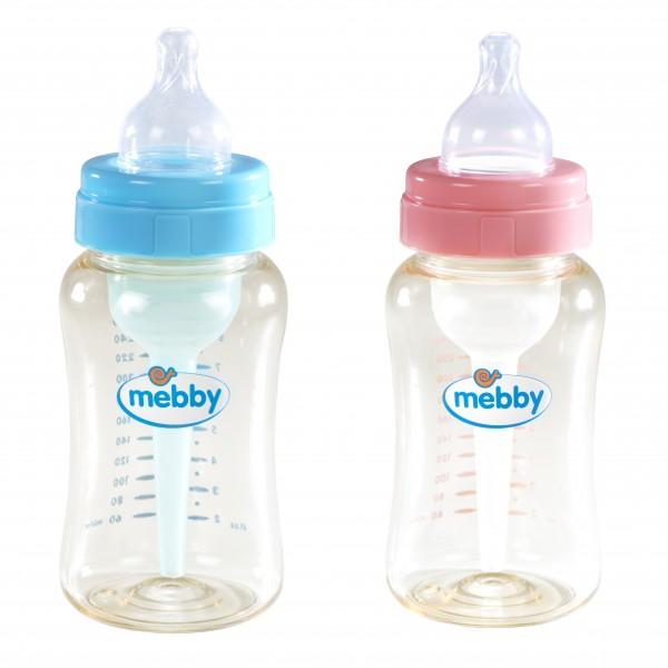 MEBBY Bib.1+2 Pl.T/Sil.300ml*