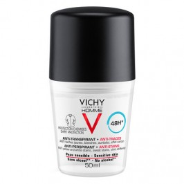 Vichy Homme Deodorante uomo roll-on antimacchie 50 ml