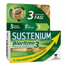 Sustenium Bioritmo 3 Donna 60+ - Integratore multivitaminico per il benessere fisico e mentale - 30 compresse