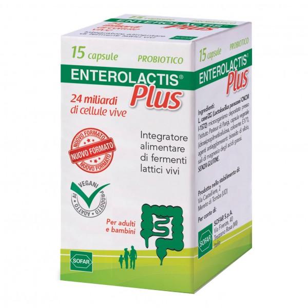 ENTEROLACTIS Plus - Integratore a base di fermenti lattici vivi - 15 capsule