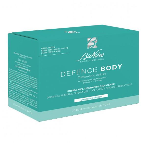Defence Body Anticellulite Crema - Gel Drenante Riducente 30 bustine da 10 ml