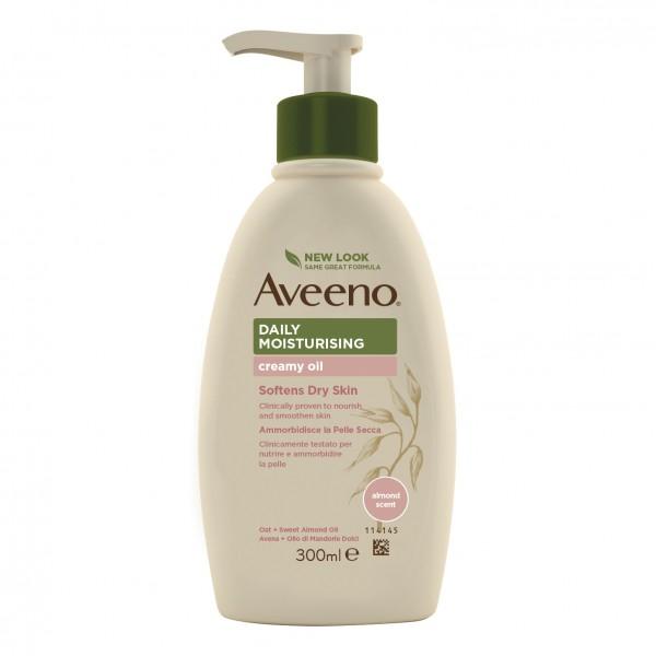 Aveeno Crema Olio Idratante Corpo - Adatta per pelle secca e sensibile - 300 ml