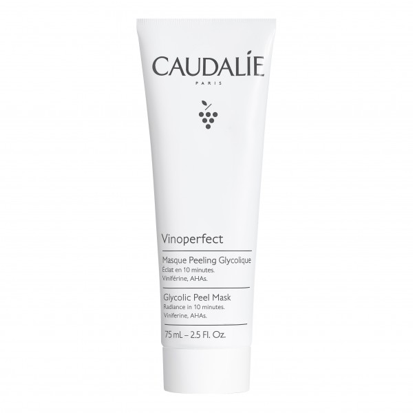 Caudalie Vinoperfect Maschera Peeling Glicolico - Maschera viso esfoliante ed illuminante - 75 ml